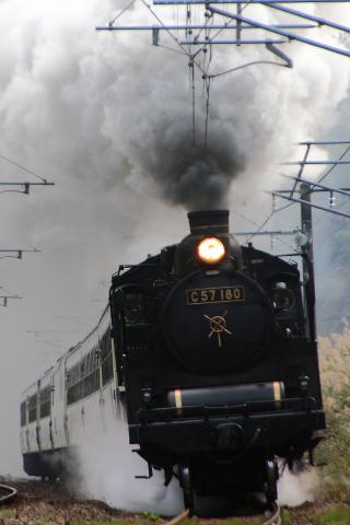 【JR東】「SL信越線秋の収穫祭号」試運転