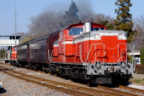【JR東】DD51+旧型客車2両 八高線ハンドル訓練