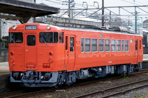 【JR西】キハ40-2045 首都圏色で下関総合車両所出場