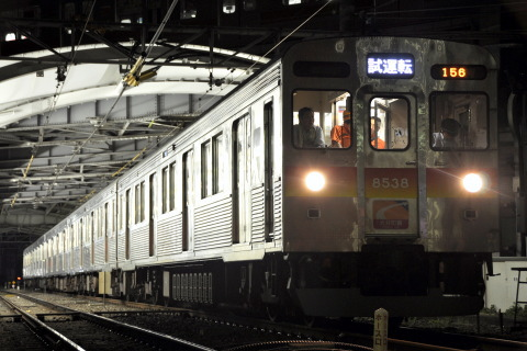 【東急】自由が丘駅留置線非常渡り線設置に伴う試運転