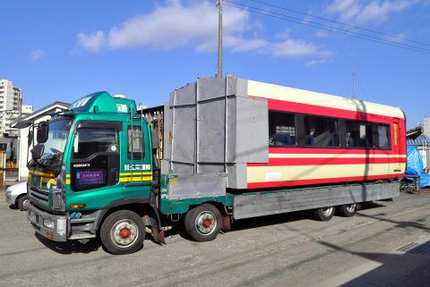 【小田急】7000形7002F(LSE)先頭車2両搬出