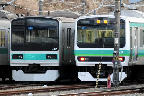 【JR東】209系マト82編成 スカート変更