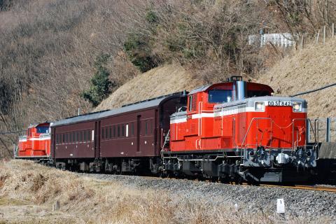 【JR東】DD51+旧客2両使用 八高線乗務員訓練