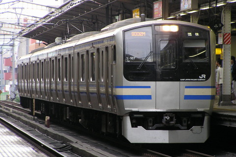 【JR東】E217系クラY107編成使用 「ひまわり号」運転