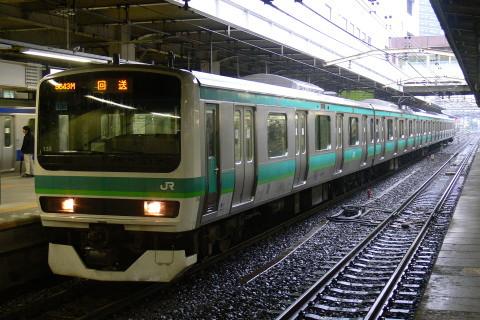 【JR東】E231系マト138編成 松戸電車区へ返却