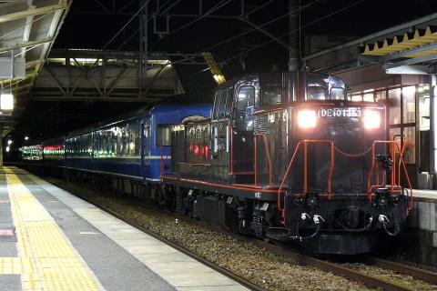 【JR九】「唐津くんちホテルトレイン」用14系寝台車 送り込み回送