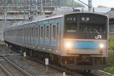 【JR西】205系ヒネK801編成 宮原総合運転所へ回送