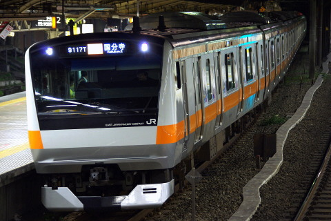 【JR東】中央線西国分寺~立川間上り線線路高架化工事実施