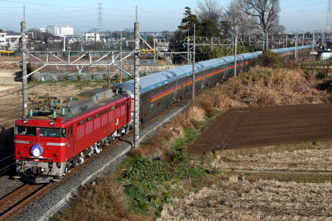 【JR東】寝台特急「カシオペア」をEF81-137が代走牽引(24・25日)