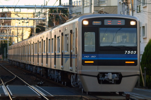 【北総】7500形7503編成 印旛車両基地へ回送