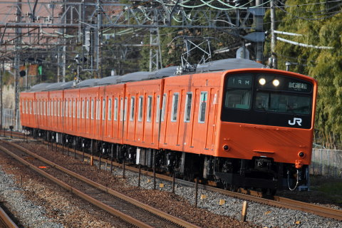 【JR西】201系モリ212編成 試運転