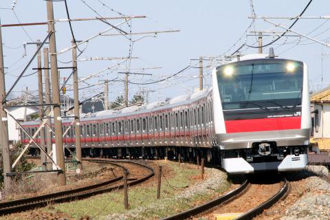 【JR東】E233系5000番代ケヨ502編成 新潟地区試運転