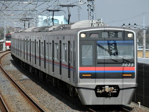 【京成】3000形3023編成による北総線内ハンドル訓練