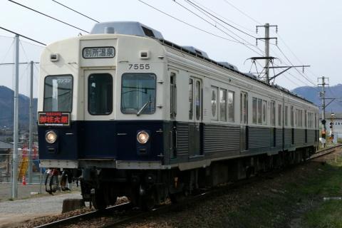【上田】7200系に御柱大祭ヘッドマークを掲出
