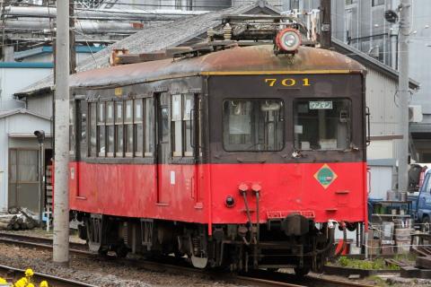 【銚電】デハ701とデハ801にLAST RUNヘッドマーク掲出