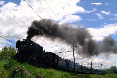 【JR東】D51-498+12系4両+DE10-1698 試運転(5日目)