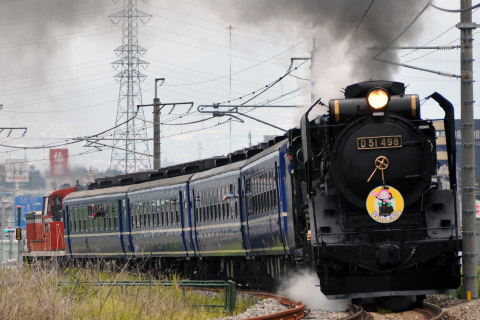 【JR東】D51-498牽引 快速「SLやまなし」運転