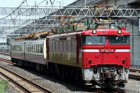 【JR東】485系3000番代モハユニット 郡山総合車両センター入場配給