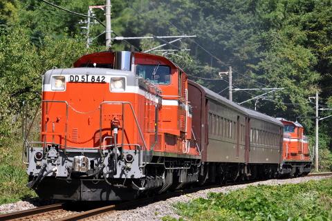 【JR東】DD51+旧型客車2両 吾妻線ハンドル訓練