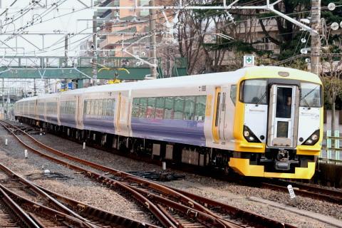 【JR東】E257系500番代マリNB14+13編成 旧習志野電車区へ疎開