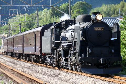 【JR東】C61-20+旧型客車4両 試運転