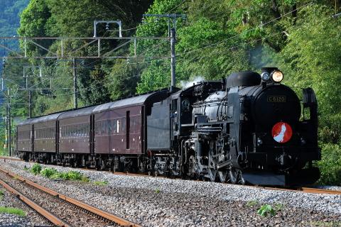 【JR東】C61-20+旧型客車4両 試運転(25日)