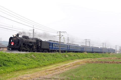 【JR東】C61-20+12系 試運転(26日分)