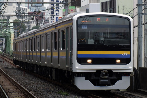 【JR東】209系2100番代元ウラ72編成 大宮総合車両センター出場