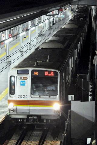【メトロ】7000系7120F 深夜に東急東横線で試運転