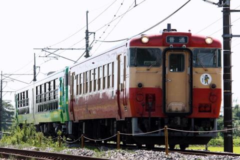 【JR東】キハ48形 『びゅうコースター風っこ』+キハ40形1両 郡山へ回送