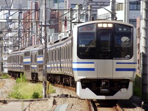 【JR東】E217系クラY30編成 東京総合車両センター入場