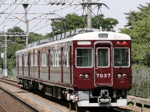 【阪急】7000系7037F 返却回送