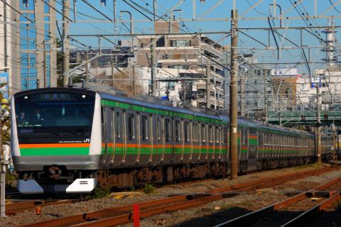 【JR東】E231系1000番代・E233系3000番代 併結試運転(21日)