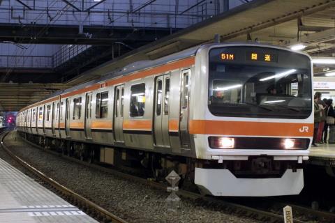 【JR東】209系500番代ケヨM72編成 返却回送
