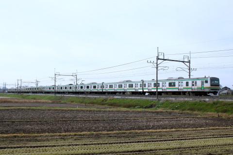 【JR東】宇都宮線上野口にてグリーン車非連結列車運転