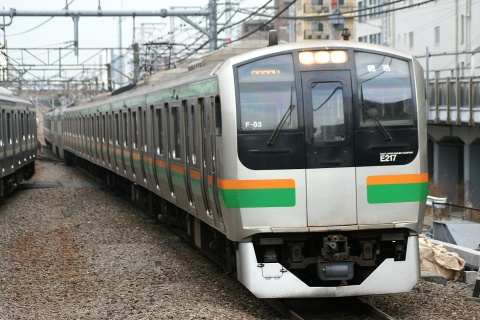 【JR東】E217系コツF03編成 東京総合車両センター入場