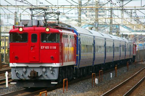 【JR東】24系尾久車7両 方向転換のための回送を実施