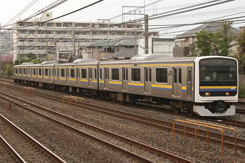 【JR東】209系2100番代C405編成 東京総合車両センター出場