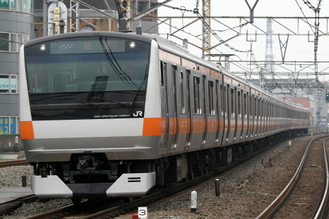 【JR東】E233系トタT20編成 東京総合車両センター出場