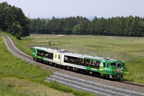 【JR東】キハ48形『風っこ』使用 快速「ハッスル黄門」号 運転