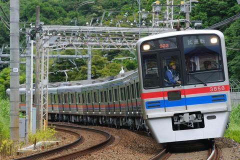 【京成】3700形3858編成 出場試運転