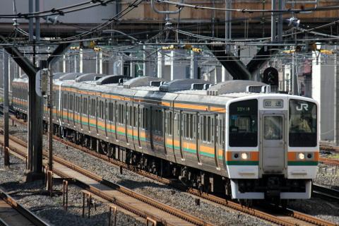 【JR東】211系チタN58+N59編成 尾久車両センター疎開回送