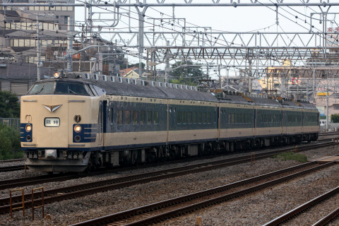 【JR東】583系秋田車使用の天理臨運転