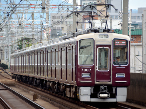 【阪急】7000系7007F 正雀工場出場