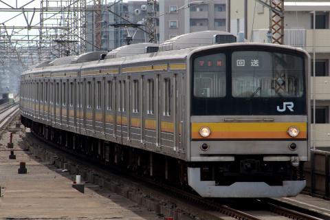 【JR東】205系ナハ3編成 大宮総合車両センター入場