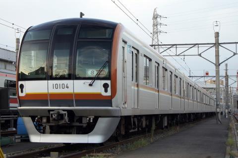 【メトロ】10000系10104F 元住吉検車区へ回送・東横線内試運転