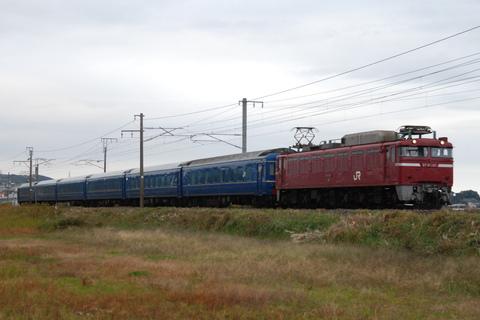 【JR東】EF81-140+24系6両 常磐線で試運転