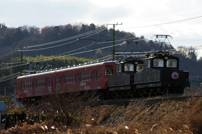 【上信】デキ牽引のクリスマストレイン運転