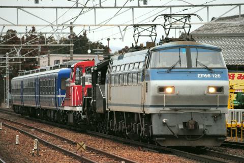 【JR貨】C56-160+DE10-1118+12系3両 甲種輸送(19日復路)