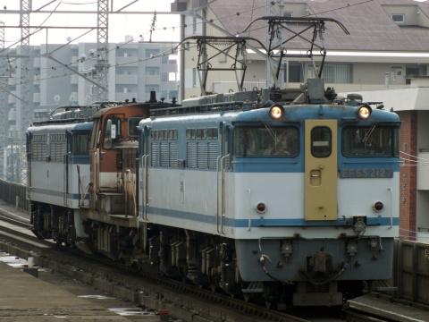 【JR貨】EF65-1043+DE10-1136 廃車回送